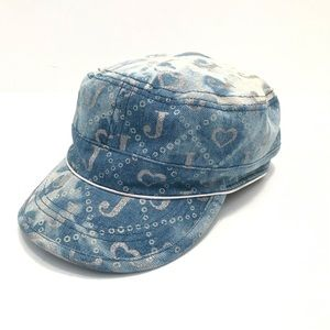 Justice Denim Look Military Style Hat